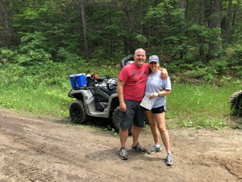 Tina and Husband Devin ATV