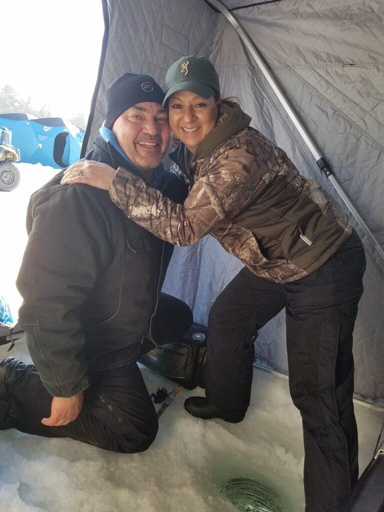 Tina & Husband fishing